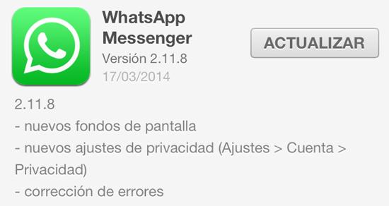 whatsApp_version_2.11.8_noticiasapple.es