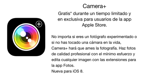 Camera+_gratuita_Apple_Store_noticiasapple.es