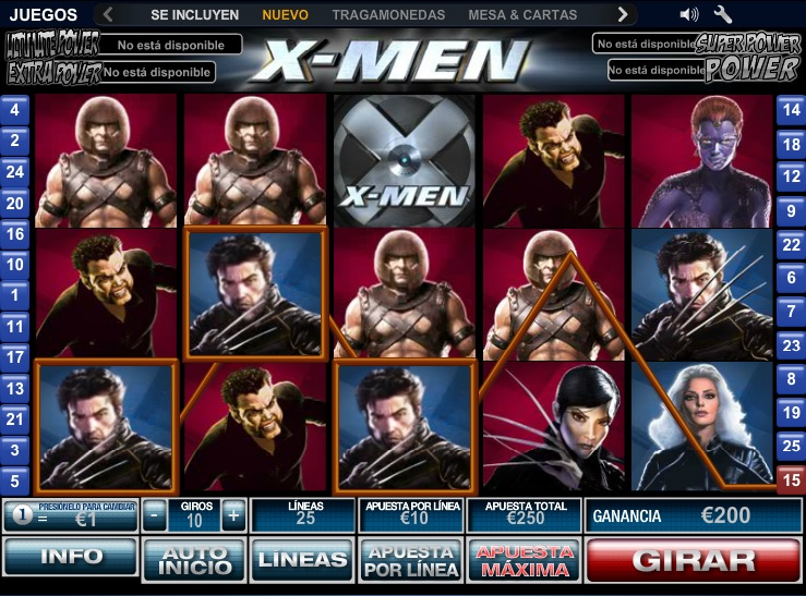 x men tragamonedas