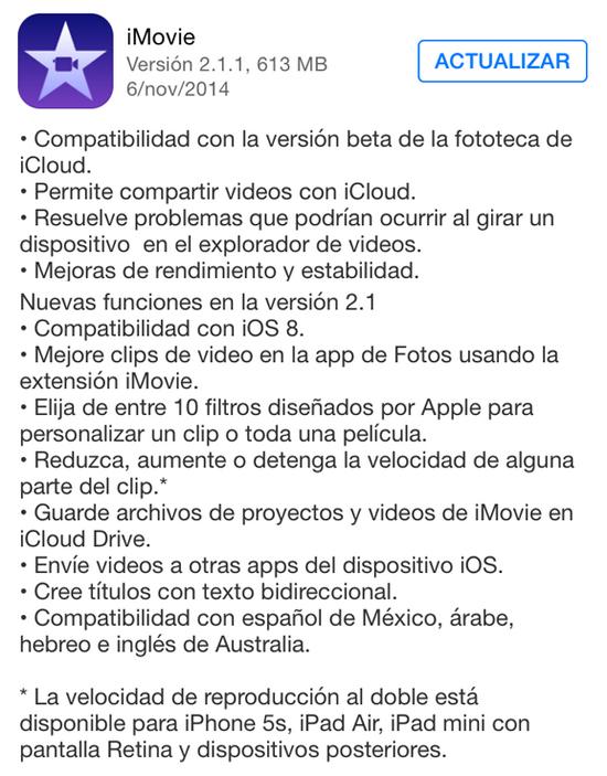 iMovie_version_2.1.1_noticiasapple.es