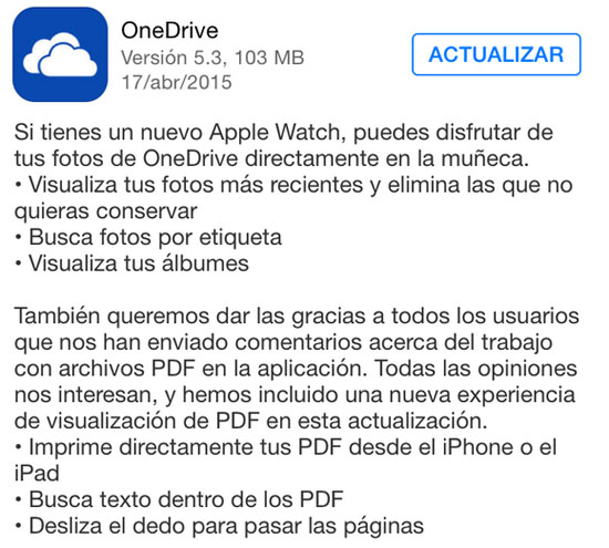 onedrive_version_5.3_apple_watch_noticiasapple.es