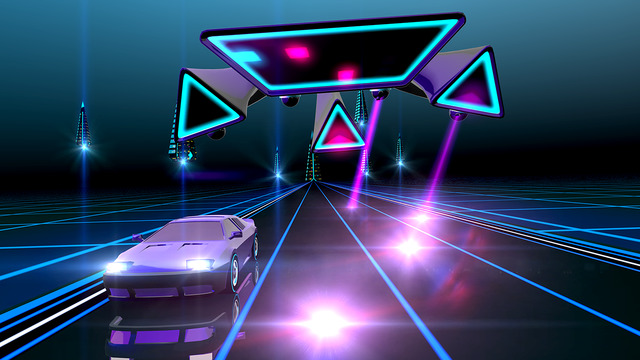 Neon_Drive_80s_style_arcade_game_noticiasapple.es